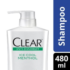 Clear Shampo Anti Ketombe Ice Cool Menthol 480ML