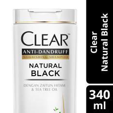 Clear Shampo Anti Ketombe Natural Black 340ML