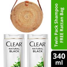 Review Toko Clear Shampo Anti Ketombe Natural Black 340Ml Twinpack Free Tas Rotan