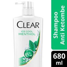 Spesifikasi Clear Shampoo Anti Ketombe Ice Cool Menthol 680Ml Yg Baik