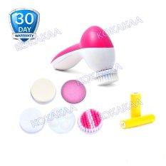 Cnaier Pemijat Wajah Pembersih Wajah 5 in 1 plus Battery Bundle - Pink