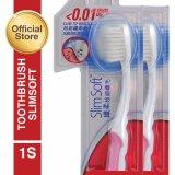 Colgate Slimsoft Compact Toothbrush Sikat Gigi 1S 2 Pcs Colgate Diskon 40