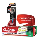 Toko Colgate Toothbrush Slimsoft Ch Charcoal 1S Colgate Total Charcoal Gel 150Gr Colgate Di Dki Jakarta