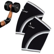 Kompresi Lengan Siku, 5mm Neoprene, Dukungan Sempurna untuk CrossFit, Angkat Besi, Powerlifting, Tenis, Golf & Basket-Intl
