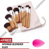 Toko Jual Cosmetic Make Up Brush 11 Set With Pouch Kuas Make Up 11 Set