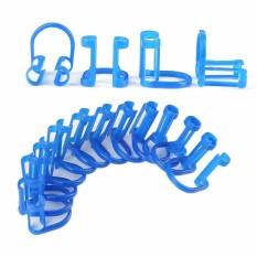 Cotton Roll Holder Clip 50 Pcs Disposable Dental Isolator Alat Klinik Gigi Perawatan-Intl