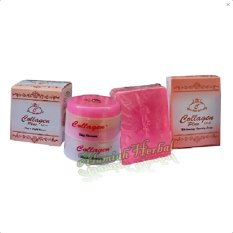 Beli Cream Collagen Siang Dan Malam Plus Sabun Collagen Cicil