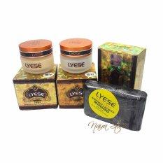 Spesifikasi Cream Lyese Whitening Original Paket Cream Lyese Sabun Hitam Cream Siang Cream Malam Sabun Whitening Lengkap