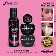 Spesifikasi Aurabeauty Paket Beauty Acne Cream Perawatan Wajah Jerawat Sekaligus Pemutih Kulit Produk Garansi Original Bpom Isi 4 Item Aura Beauty