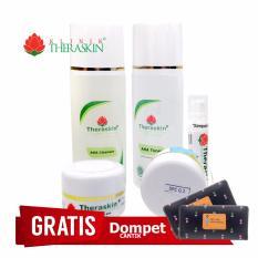 Cream Theraskin Paket Lengkap AHA Flek Tebal Parah Kulit Kombinasi Normal Kering  + Gratis Dompet
