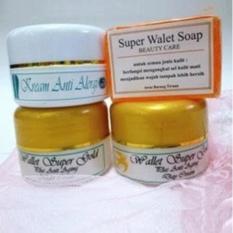 Cream Walet Gold 1 set 4pcs (Cream Malam, Day, Anti Aging dan Sabun Walet)