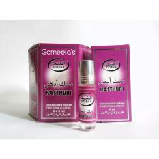 Crown Perfumes - Dobha Kasthuri - Concentrated Roll On Perfume Free From Alcohol - Kemasan Botol 6 Ml - Minyak Wangi Kasturi Kesturi Sejenis Al-Rehab Alrehab Parfum Non Alkohol Berkualitas - Bisa Untuk Sholat