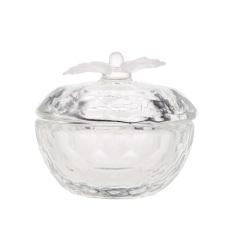 Seni Kuku Akrilik Kristal Kaca Piring Dappen Bowl Tutup With Tutup Cangkir Bubuk Cair