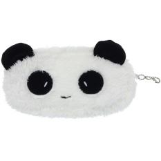 Cute Plush Panda Pena Kotak Pensil Kosmetik Tas Rias Koin Dompet Dompet (putih)-Intl