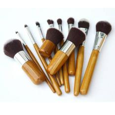 Beli Dapurbunda Makeup Brush Kuas Make Up Bamboo Set 11 Pcs Kredit Indonesia
