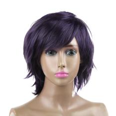 Harga Dark Purple Women Fashion Gadis Rambut Lurus Pendek Penuh Wig Wig Cosplay Intl