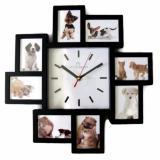 Penawaran Istimewa Meridient Foto Frame Wall Clock Modern Minimalis Hitam Terbaru