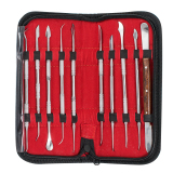 Promo Dental Lab Stainless Steel Kit Wax Carving Tool Set Instrument Intl Murah