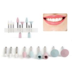 Diskon Dental Teeth Polishing Polish Kit For Composite 9Pcs Ra0312D Clinics Dentists Intl Branded