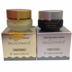 Jual Deoonard Paket Gold Dan Silver Cream Siang Malam Perawatan Jerawat Anti Acne Aman Digunakan Satu Set