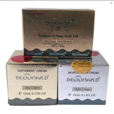 Spesifikasi Deoonard Paket Perawatan Wajah Gold Silver Sabun Original Yang Bagus