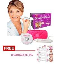 Dermawand Skin Care + FREE Cetakan Alis - Alat Perawatan Dan Penghilang Kerutan Kulit Wajah
