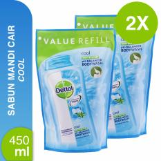 Promo Dettol Body Wash Cool 450Ml X 2 Murah