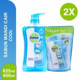 Review Tentang Dettol Body Wash Cool 625Ml 450Ml
