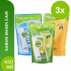 Jual Dettol Body Wash Original Cool Fresh Refill 450 Ml Branded Original