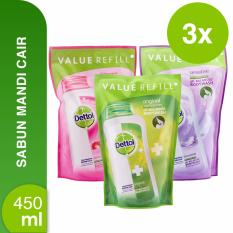 Cara Beli Dettol Body Wash Original Skincare Sensitive Refill 450 Ml