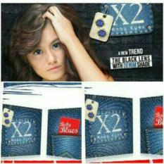Harga Diskon Softlens X2 Exoticon Baby Blues Blue Jeans Eyes Denim Murah Seken