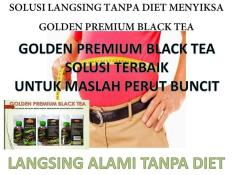 DISTRIBUTOR GOLDEN BLACK TEA ORIGINAL LANGSING PERUT TANPA DIET MANJUR