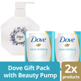 Diskon Dove Aqua Moisture Gift Pack With Free Beauty Pump Jawa Barat