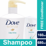 Review Dove Daily Shine Shampoo 680Ml Free Conditioner 160Ml Dove