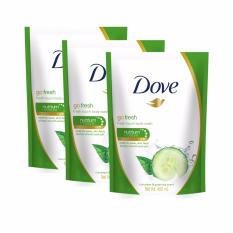 Spesifikasi Dove Go Fresh Fresh Touch Body Wash Refill 400Ml Paket Isi 3 Pack Dove