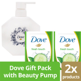 Harga Dove Go Fresh Touch Gift Pack With Free Beauty Pump Branded