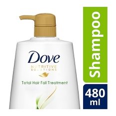 DOVE SHAMPOO NUTRITIVE SOLUTIONS TOTAL HAIR FALL TREATMENT 480 ML