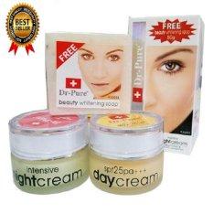 Dr Pure Paket Cream Pemutih Original BPOM - Free Whithening Soap