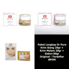 Dr Pure Paket Whitening Cream Plus Sabun Dr.Pure Original - 3 Item Paket Besar