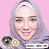 Promo Dreamcolor1 Albertine Brown Softlens With Uv Protection Gratis Lenscase Dreamcon Terbaru