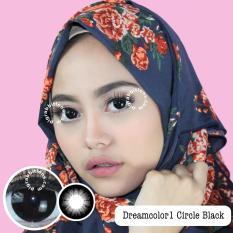 Dreamcolor1 Circle Black Softlens Minus 75 Gratis Lenscase Dreamcolor1 Diskon