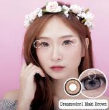 Spesifikasi Dreamcolor1 Maki Brown Softlens Minus 00 Normal Gratis Lenscase Terbaik