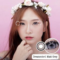 Spesifikasi Dreamcolor1 Maki Grey Softlens Minus 00 Normal Gratis Lenscase
