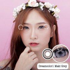 Model Dreamcolor1 Maki Grey Softlens Minus 1 75 Gratis Lenscase Terbaru