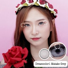 Harga Dreamcolor1 Matake Grey Softlens With Uv Protection Gratis Lenscase Terbaik
