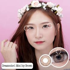 Jual Dreamcolor1 Mini Icy Brown Softlens Minus 3 50 Gratis Lenscase Baru
