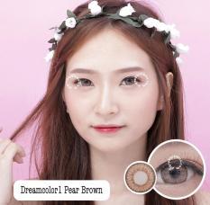 Dreamcolor1 Pear Brown Softlens - Minus 1.00 + Gratis Lenscase