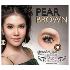 Diskon Dreamcolor1 Pear Softlens Brown Free Lenscase