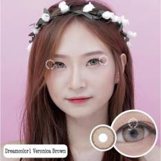 Harga Dreamcolor1 Veronica Brown Softlens Minus 00 Normal Gratis Lenscase Murah