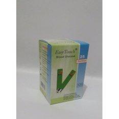 Harga Easy Touch Strip Cek Gula Darah Isi 25 Yang Murah Dan Bagus